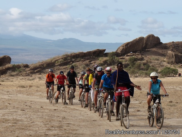 Conga line - Kenya and Tanzania Adventurous African Cycle Tour