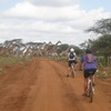 Biking with the kids on our Africa cycle tour