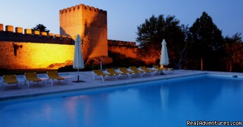 Blue Coast Bikes Luxury Bike Tours in Portugal: Poolside at your Castle lodgings on the Alentejo route