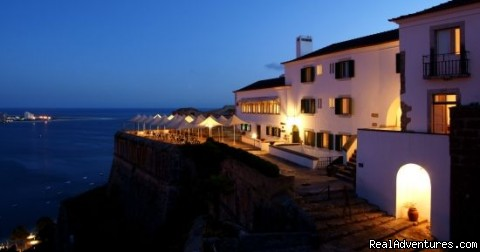 Panoramic view from your suite at Castle of St. Filipe - Blue Coast Bikes Luxury Bike Tours in Portugal