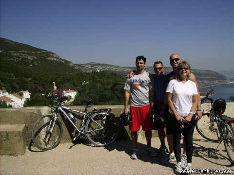Another happy family, together on the Costa Azul! - Blue Coast Bikes Luxury Bike Tours in Portugal
