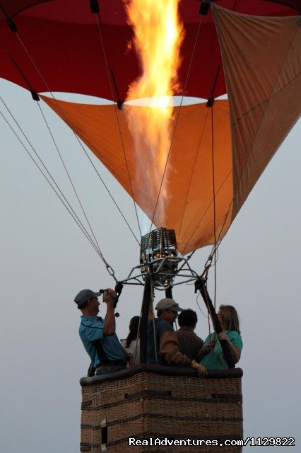 Pilot Dan Austin at lift off. - Hot Air Balloon Rides above Northern California