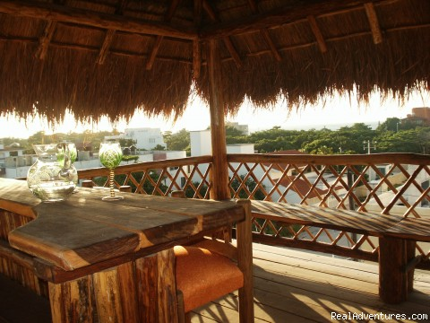 Sunset deck with bar! - Cozumel Condo Vacation Rental Costa Azul