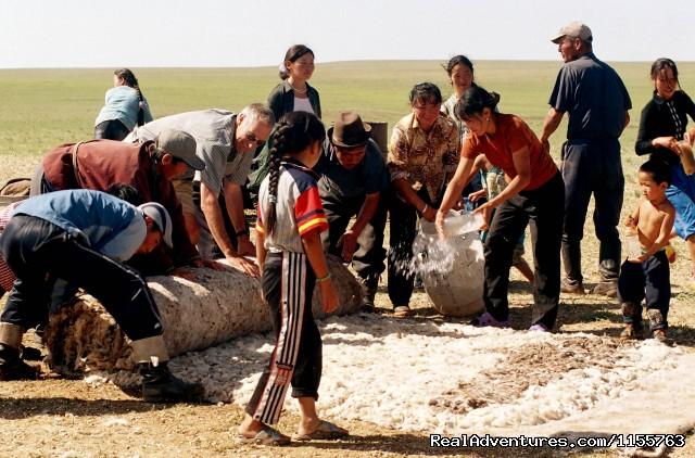 Felt making (#10 of 25) - Discover Gobi desert with Idre's tour in Mongolia.