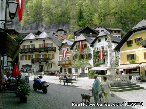 Village centre of Hallstatt - Cycling and walking holidays in Europe