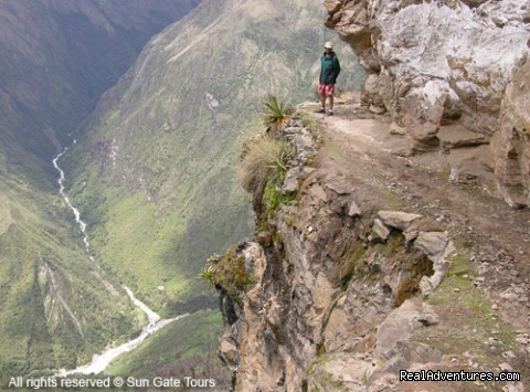 Amazing Canyon along the trail to Machu Picchu - Sun Gate Tours