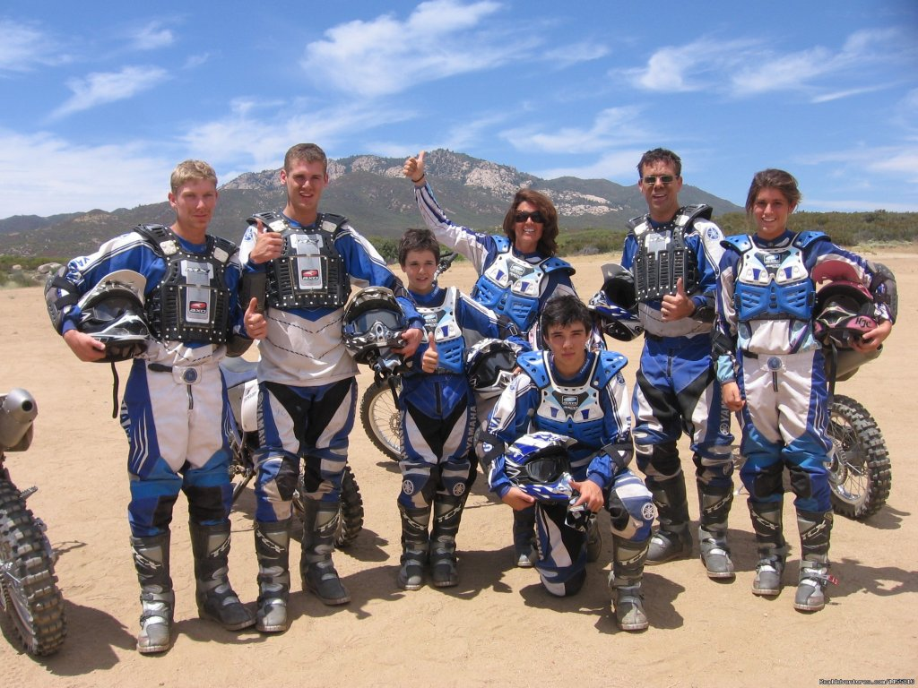 MotoVentures offers Off-Road Motorcycle Rider Training for beginners to experts,men,women & kids  every week at our Rider Training Center in Southern California, day rides and  and custom Dual Sport Motorcycle Tours in So California, Arizona & Baja
