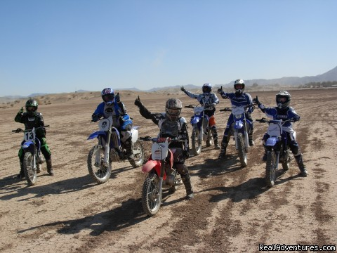 Training at Ocotillo Wells SVRA, Ca. - MotoVentures Dirt Bike Training, Rides and Trials