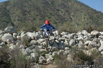 Trials Bike Riding, Rider Training Center, Ca. - MotoVentures Dirt Bike Training, Rides and Trials