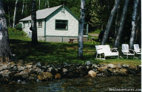 Front View - Rangeley Lake, Private Waterfront Cottage