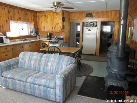 Livingroom - Rangeley Lake, Private Waterfront Cottage
