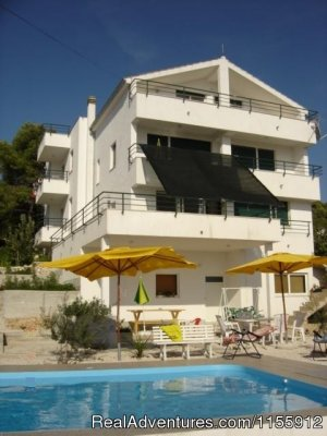 Holiday in quiet location-pool-near beach and town Trogir, Croatia Bed & Breakfasts