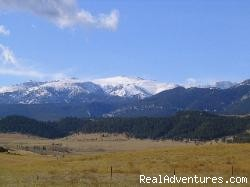 View from the house of the Beartooth Mountains - Romance & Adventure at the Montana Beartooth Cabin