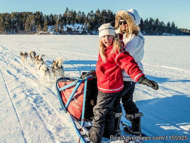 Wintergreen dogsledding is great family fun! - Dog Sledding Vacations & Dog Mushing Tours