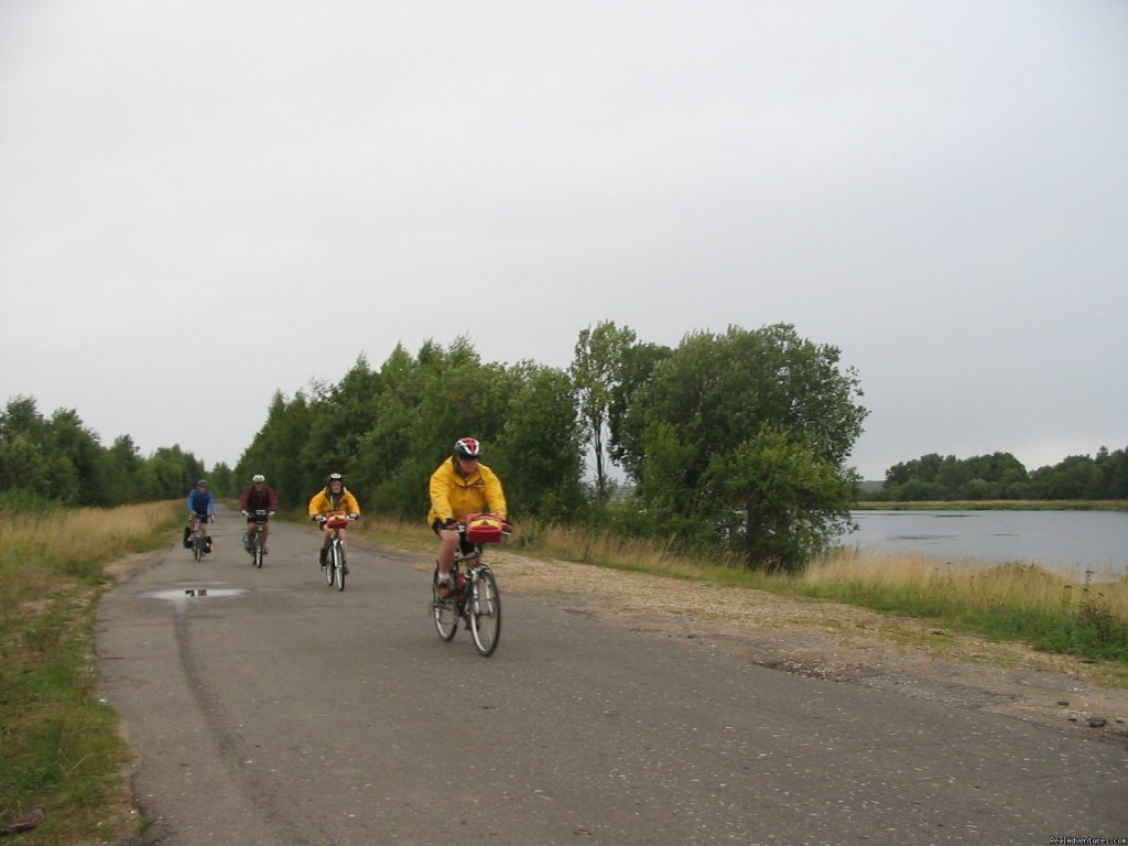 Bicycle tour in the heart of Russia accompained by Russian cyclists.