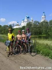 Monastery near Vladimir - Golden Ring of Russia bicycle tour