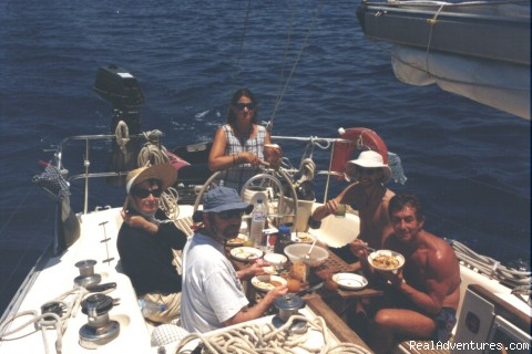 Lunch on board - Sailing Charters Private or Share. Greece & Turkey