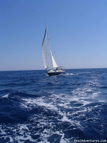 s/y Pwyll under sail - Sailing Charters Private or Share. Greece & Turkey