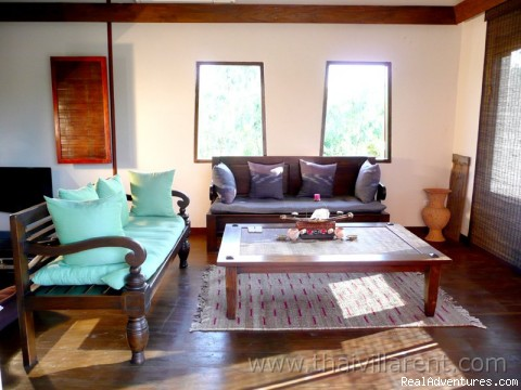 Living room at the Thai villa - GREEN GECKO off the beaten track in Thailand
