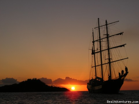 Canadian Sailing Expeditions: Caledonia at sunset