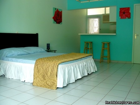Colorful low budget studio apartments on Curacao ...