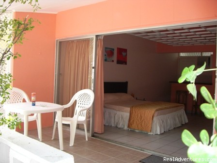 - Colorful low budget studio apartments on Curacao