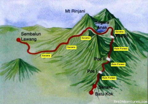 Lombok Island Online Information: Map of Mount Rinjani National Park
