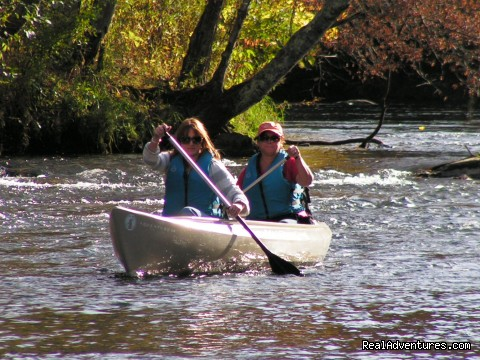 Canoeing on the South Fork of the New River - Have a New River Adventure at RiverGirl Fishing Co