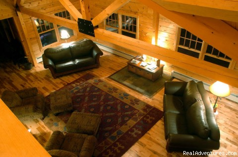 plenty of room for entertaining in the great room - Sebec Lake Lodge