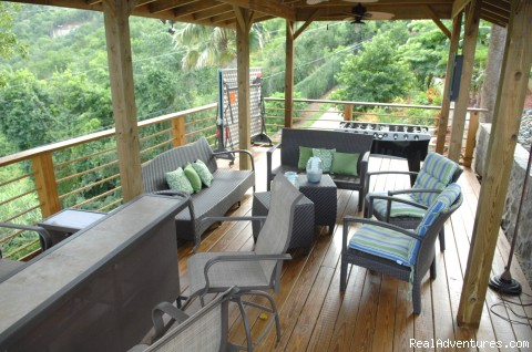Outdoor Entertainment Area - Villa St. Thomas
