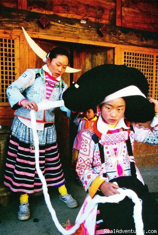 Dress up for Festival (#2 of 14) - Custom china tours, Yunnan tour, Tibet tour