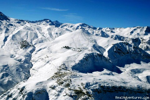 Aerial view from Farellones& La Parva& El Colorado - Ski Mountain Hotel in Farellones- Chilean Andes