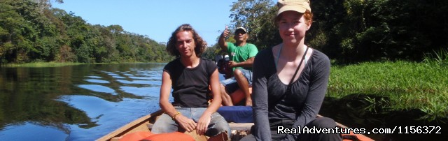 motor ride canoe - Brazil Manaus Amazon Jungle Tours