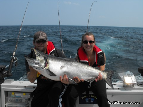 Sport-fishing trips on Lake Ontario/Niagara River: 30.6lb King Salmon