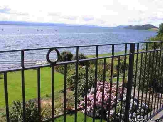 The garden & Moray Firth from the terrace outside the bedroo | Image #3/8 | 5 star Water's Edge Bed and Breakfast in Scotland