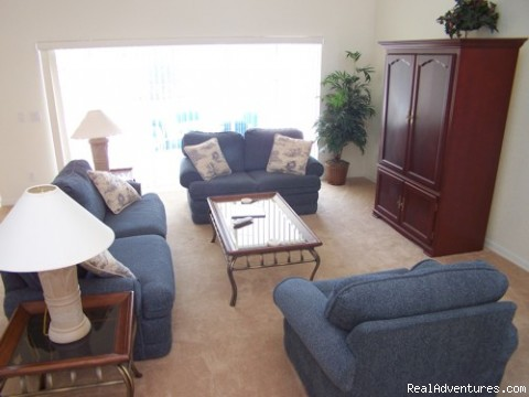 LIVING AREA - Fantastic Family House To Rent Davenport Orlando