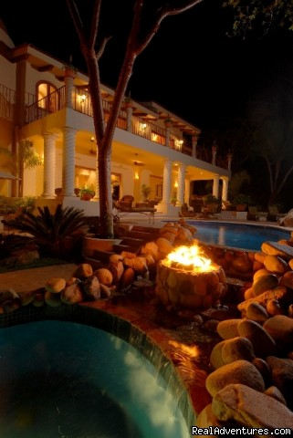 Fire Water Feature @ Tesoro - Two Stunning Villa's in Puerto Vallarta