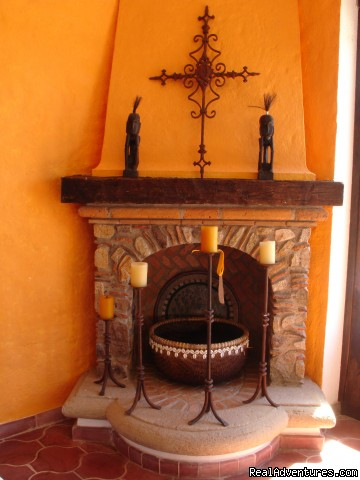 Villa Viva fireplace - Two Stunning Villa's in Puerto Vallarta