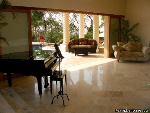 Baby Grand Piano @ Tesoro - Two Stunning Villa's in Puerto Vallarta