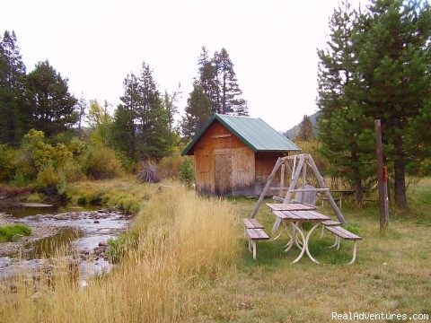 CABIN AND PICNIC AREA AT RIVER - Luxury South Lake Tahoe Rental & Boat Charter