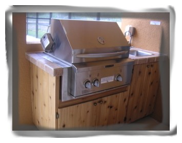 Gas BBQ Kitchennette - NEW Gated Luxury Lakeview 5 BD/4.5 Villa Pool/Spa