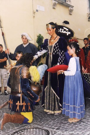 The 3 day festival takes place in august - House in medieval hilltop town
