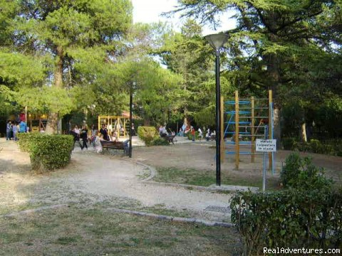The children's play area & gardens in Penne - House in medieval hilltop town