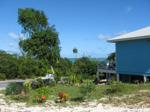 Cottage Landscaping - Exuma Blue-Ocean View  from Jaccuzi Tub in Bedroom