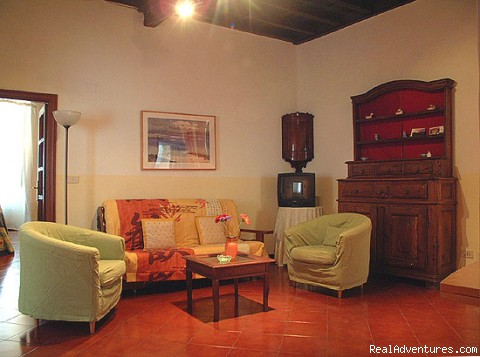 Charming apartments in the historic centre of Rome: Living room