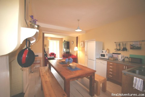The large kitchen is fully-equipped - Spacious Village Holiday Rental, up to 14 people