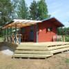 The wood fired sauna!