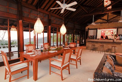 The Pavilion Living room at Manu villas vacation rental - Manu villa rental and vacation rentals Costa Rica