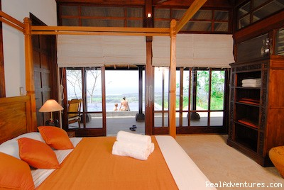 The Pavilion Bedroom at Manu villas Dominical - Manu villa rental and vacation rentals Costa Rica