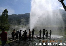 Hot spring geyser. - A Thai Village Home Stay for Cultural Experience.